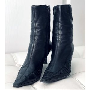 Leather Mid Bootie
